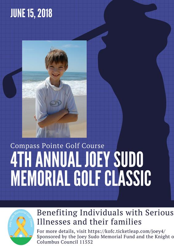 The 4th Annual Joey Sudo Memorial Golf Classic