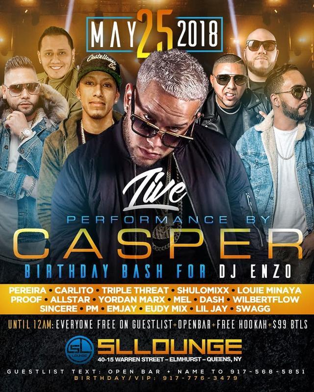 Memorial Day Weekend 2018 Casper Live At SL Lounge