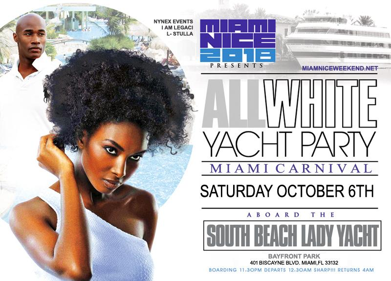 Miami Nice 2018 the Annual Miami Carnival All White Yacht Party