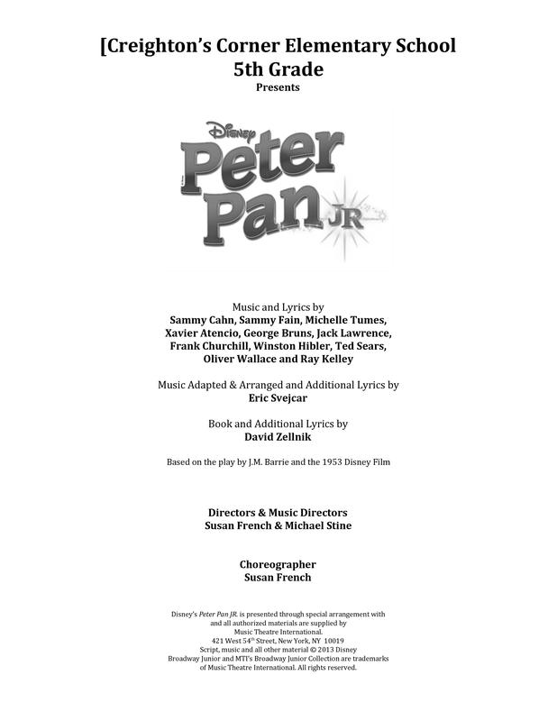 2018 CCE 5th Grade Musical - Peter Pan