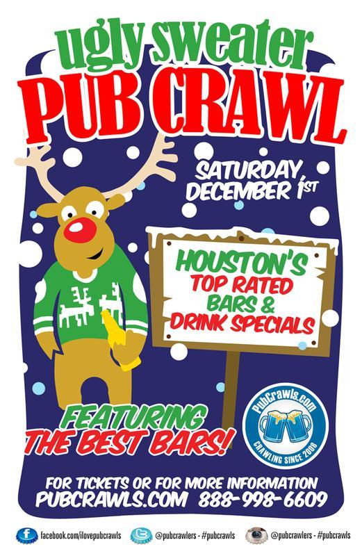 Houston 3rd Annual Ugly Sweater Pub Crawl