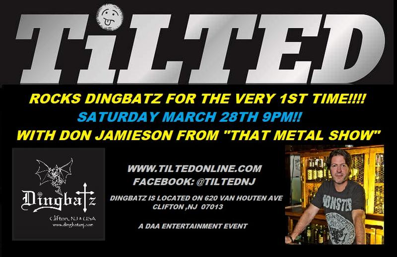 Tilted rocks Dingbatz in Clifton NJ for the very 1st time!  Tix will be mailed to you directly