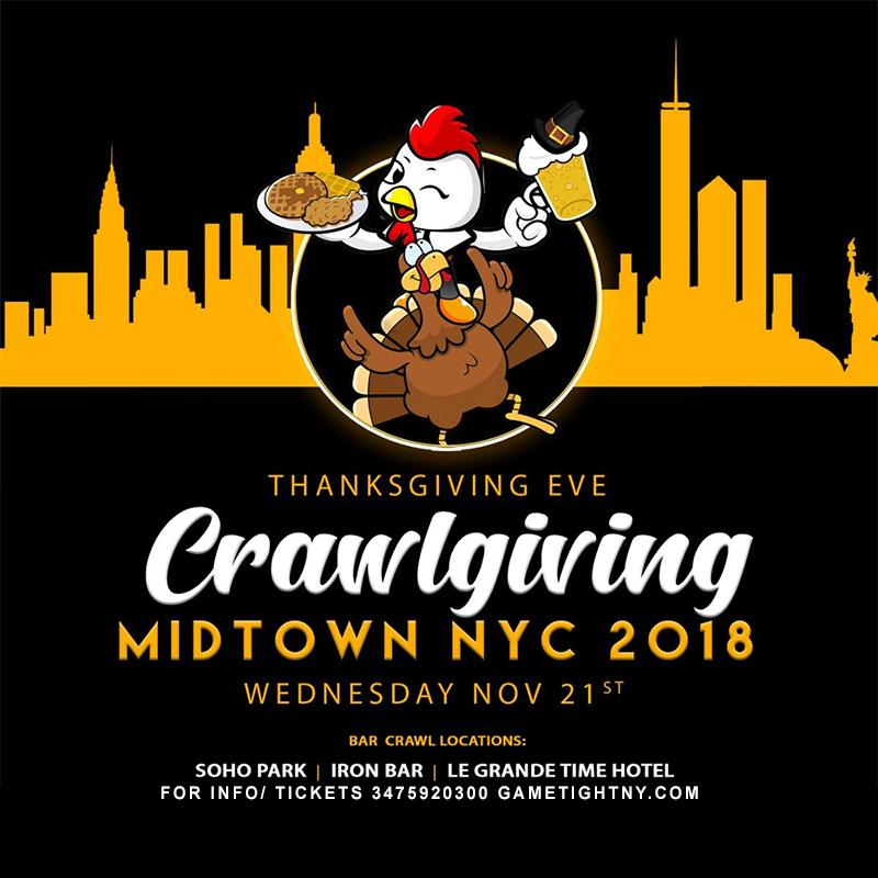 Thanksgiving Eve 2018 Crawlgiving Bar Hop Pass
