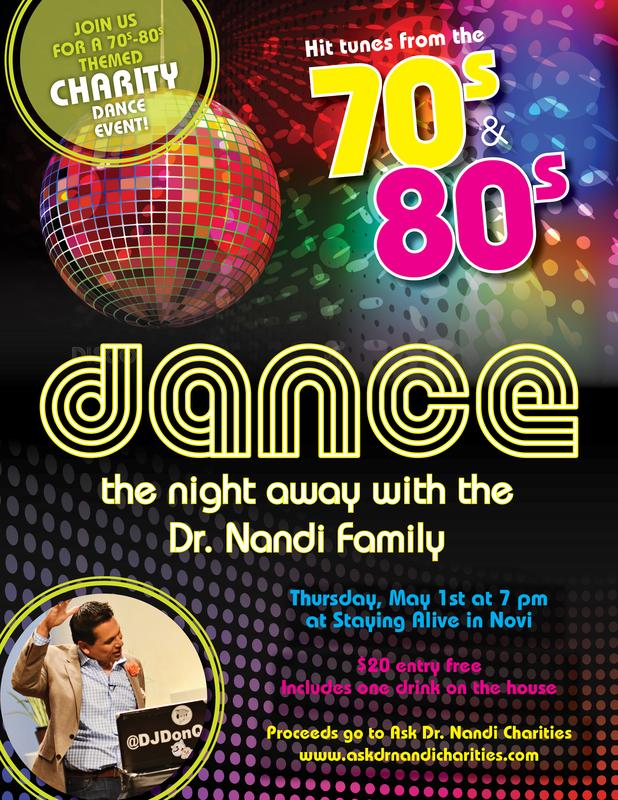 Ask Dr. Nandi Charity 70's & 80's Groovy Bash