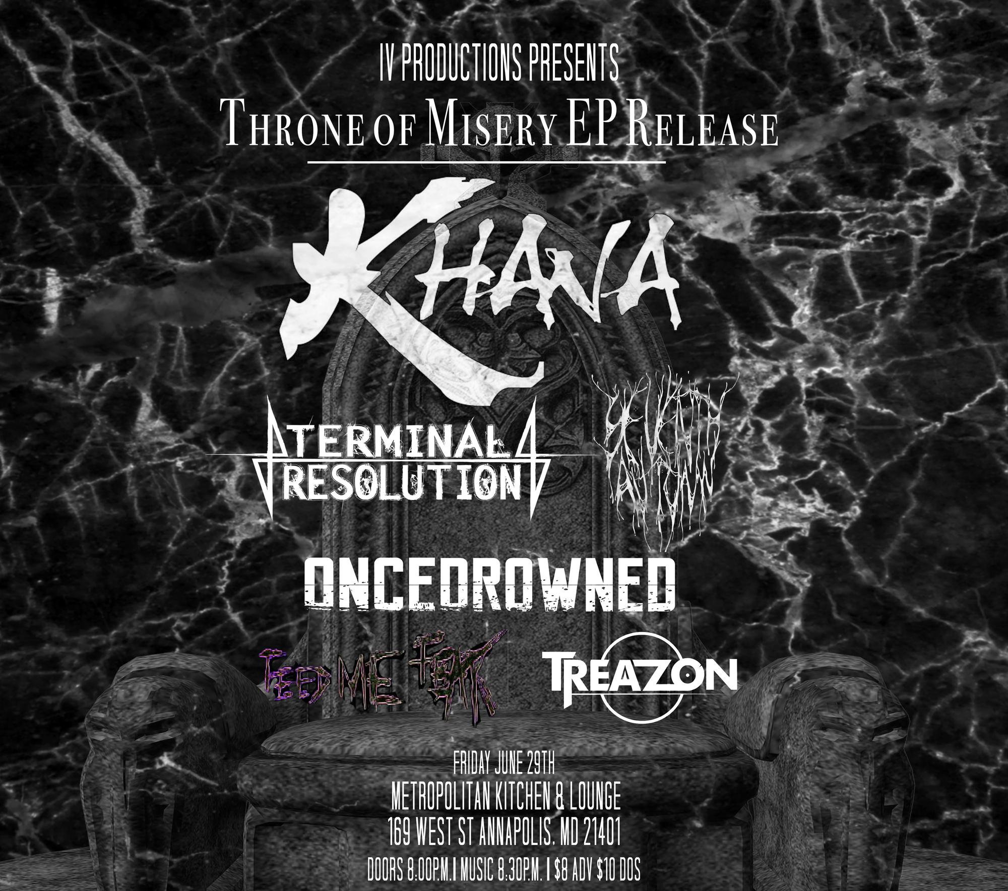 Khana \'Throne Of Misery\' EP Release. Tickets in Annapolis, MD ...