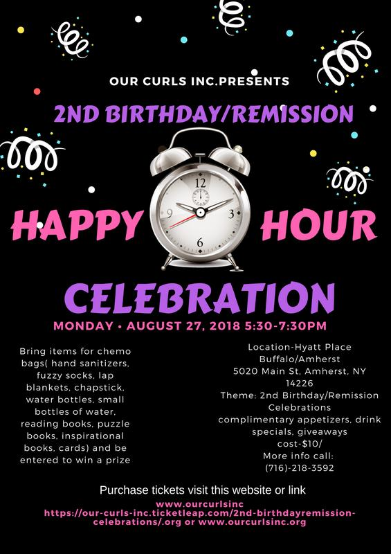 2nd Birthday/Remission celebrations happy hour