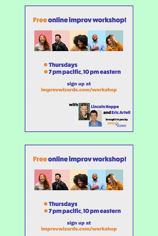 Free Online Improv Workshop, July 2