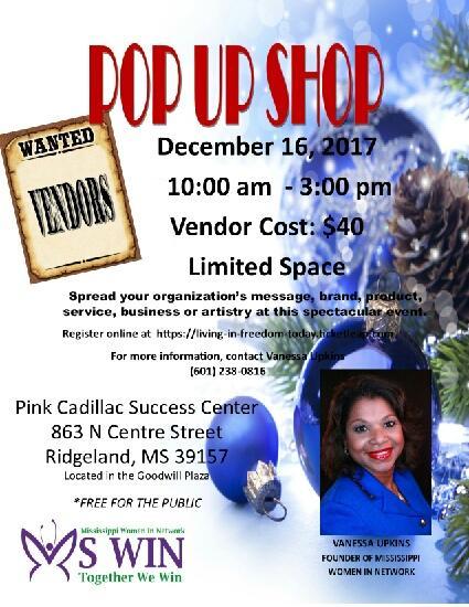 Mississippi Women In Network PopUp Shop - December