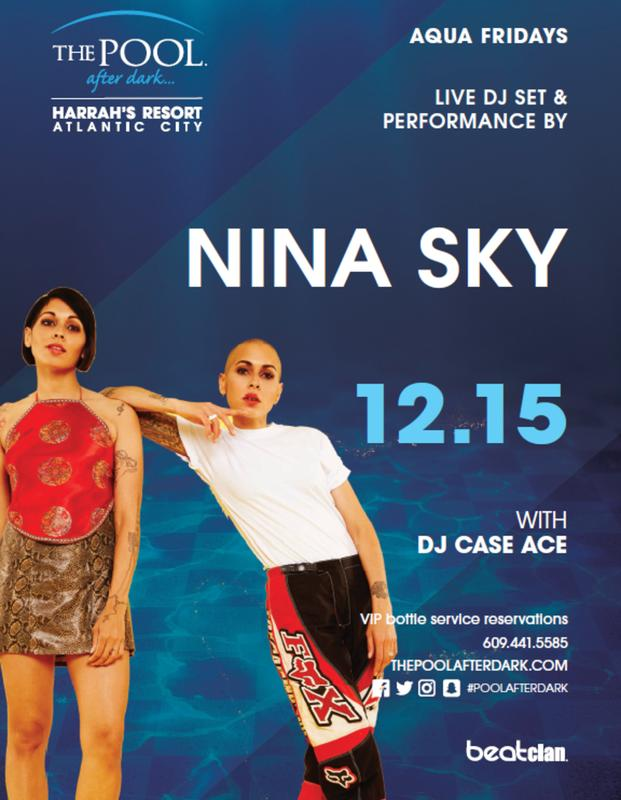Free Admission Friday w/ Nina Sky @ Harrahs Pool AC Dec 15th AK