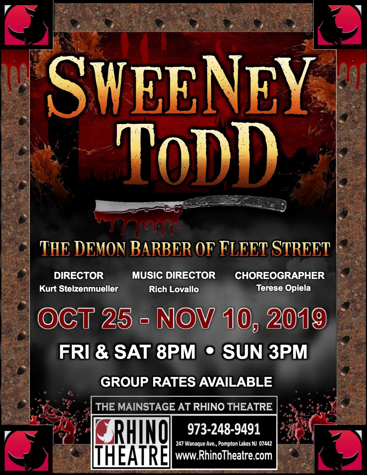 SWEENEY TODD @ Mainstage Tickets in Pompton Lakes, NJ