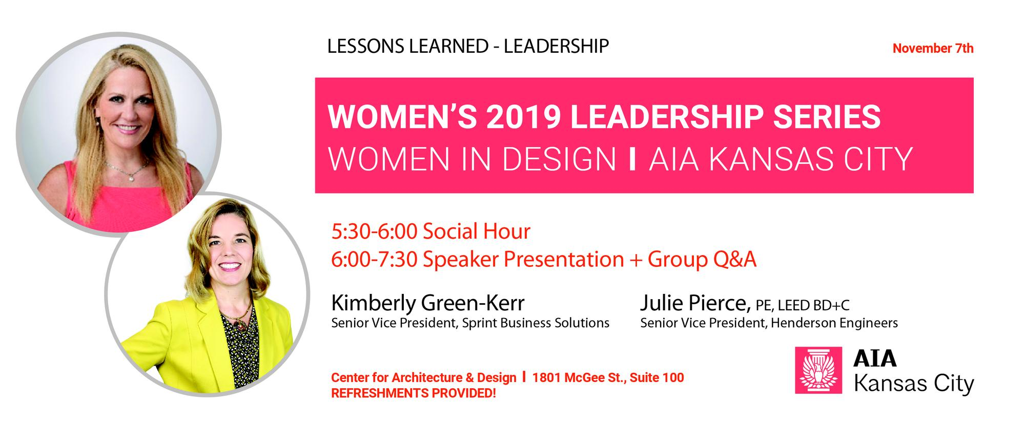 Women's Leadership Series: Kimberly Green-Kerr and Julie Pierce