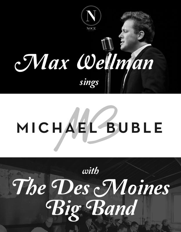 Max Wellman Sings Michael Buble w/ The DM Big Band