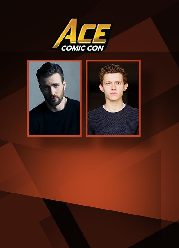 CAPTAIN AMERICA/SPIDER-MAN: Chris Evans & Tom Holland DUAL VIP @ ACE Comic Con ARIZONA 2018