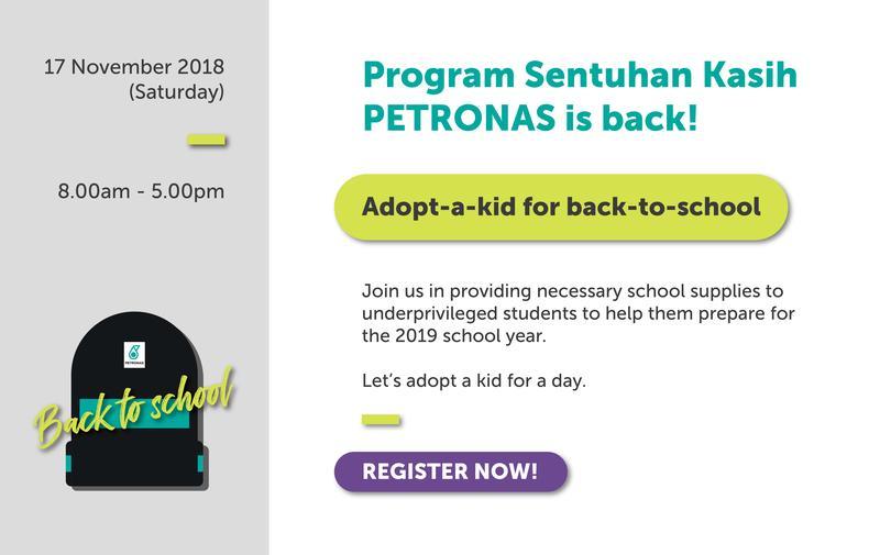 Program Sentuhan Kasih Back To School PETRONAS
