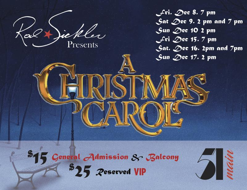 Rod Sickler and Ludlow Theater Group presents a Christmas Carol at 51 Main