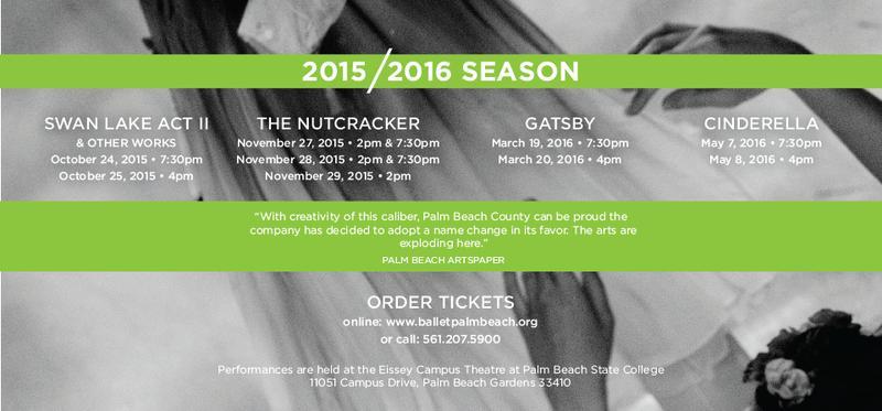 Ballet Palm Beach Season Subscription 2015/2016
