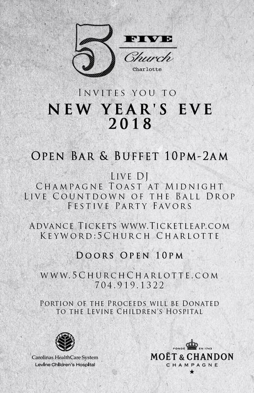 5Church Charlotte, North Carolina New Year's Eve 2018