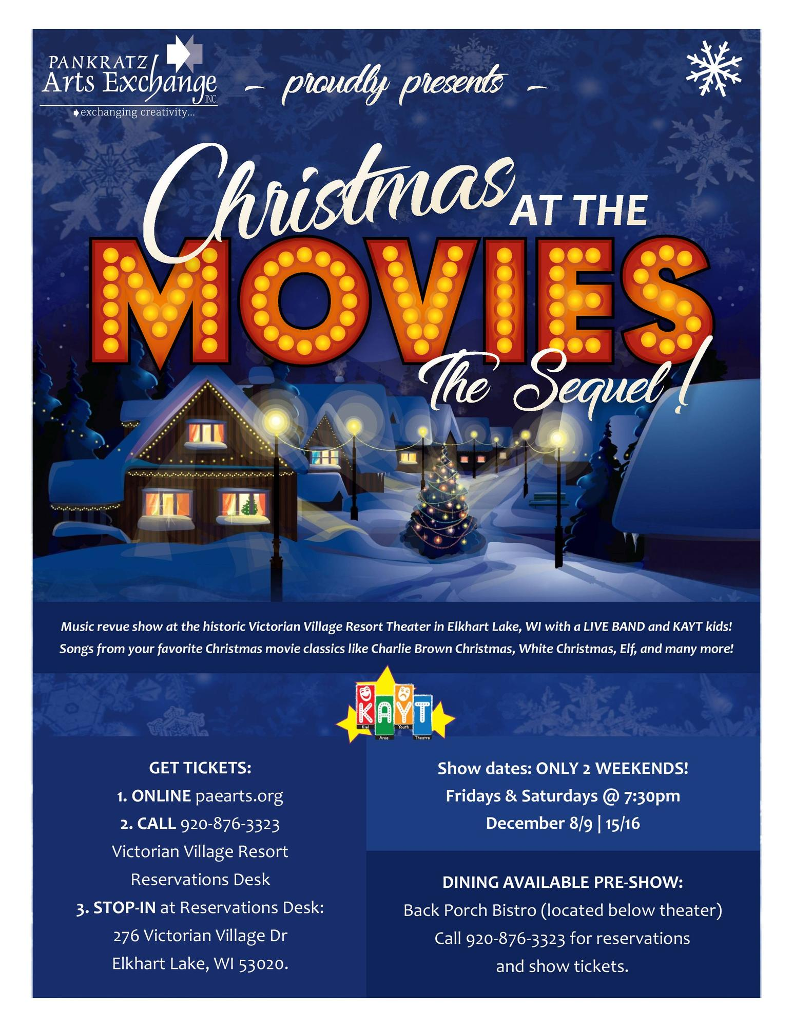 Christmas at the Movies-THE SEQUEL! Tickets in Elkhart Lake, WI ...