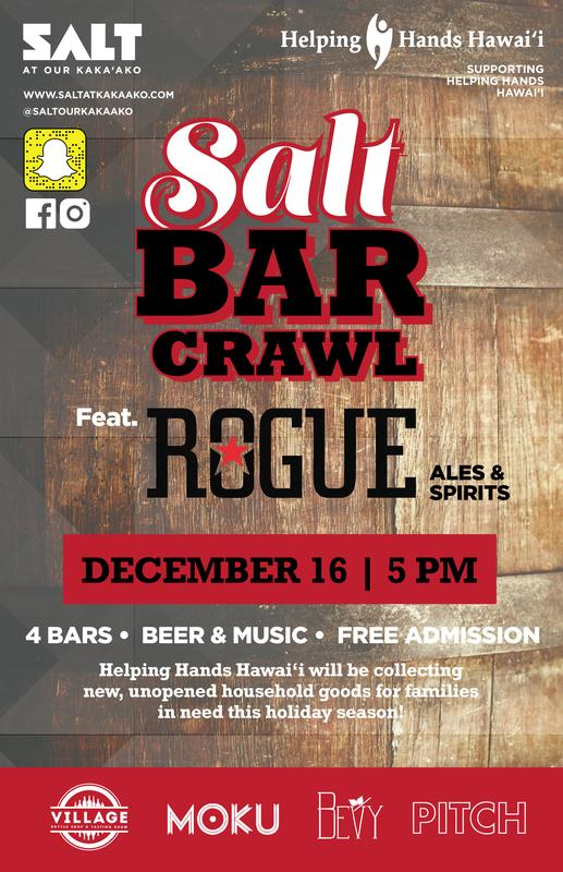 SALT Bar Crawl – Supporting Helping Hands Hawaii
