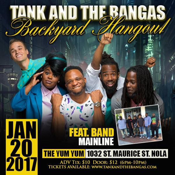 Backyard Band Keep It Gangsta: Tank And The Bangas LLC Tickets