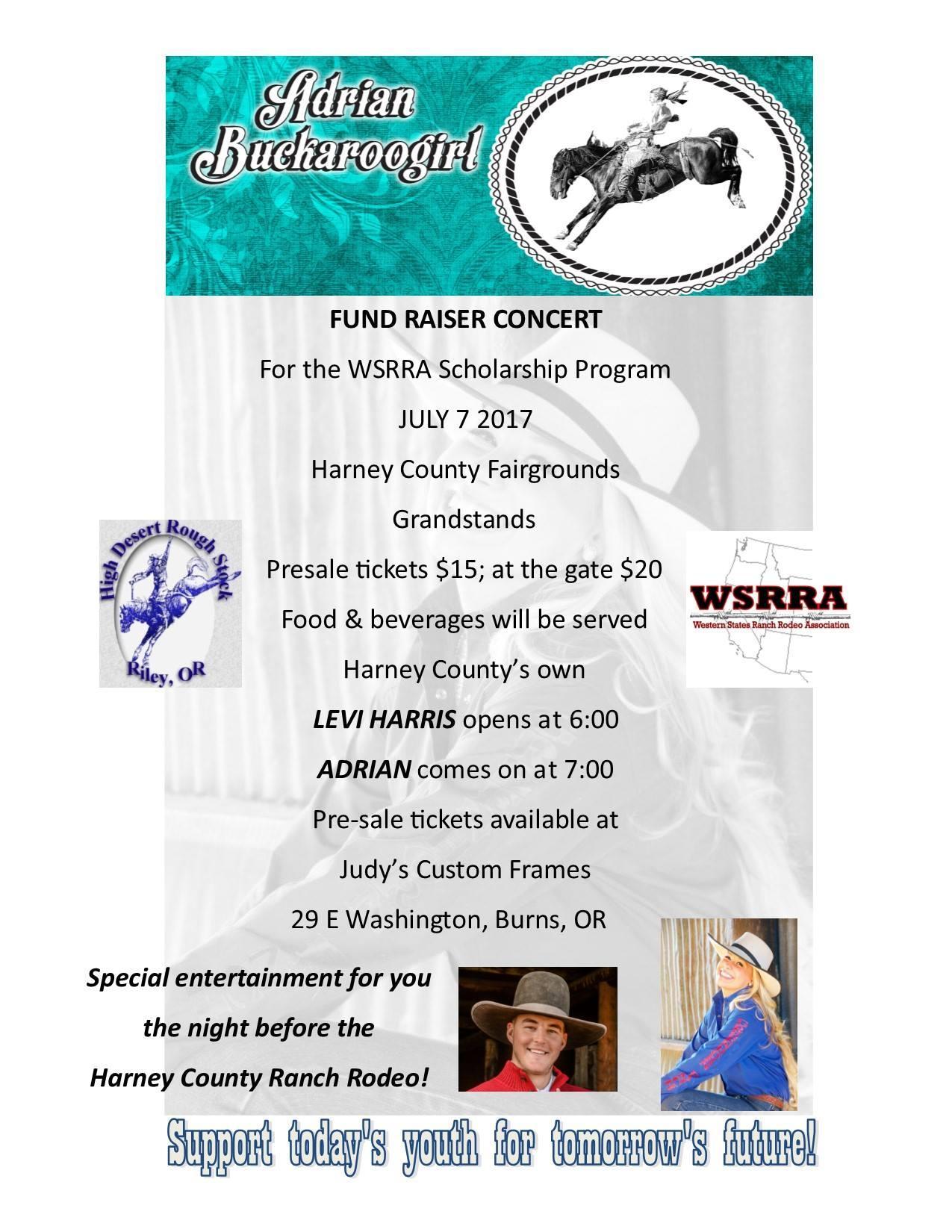 WSRRA Scholarship Program Fund Raiser Concert Tickets in Burns, OR ...