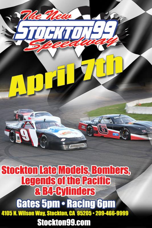 April 7, 2018 - Stockton Late Models, Bombers, B4-Cylinders & Legends of the Pacific