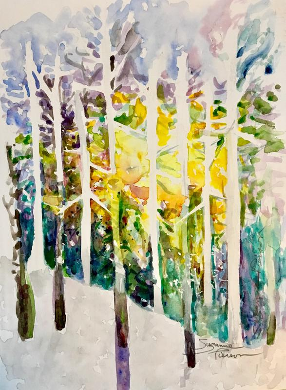 Painting Gold in Paradise: A Fall Plein Air Watercolor Workshop