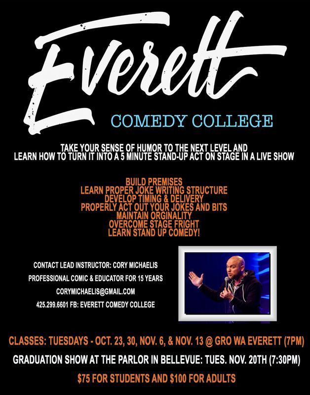 Everett Comedy College - Fall 2018