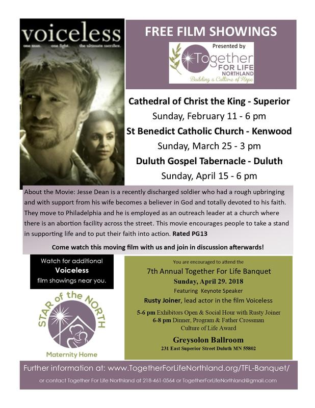VOICELESS Free Film Showing - Duluth Gospel Tabernacle - Duluth