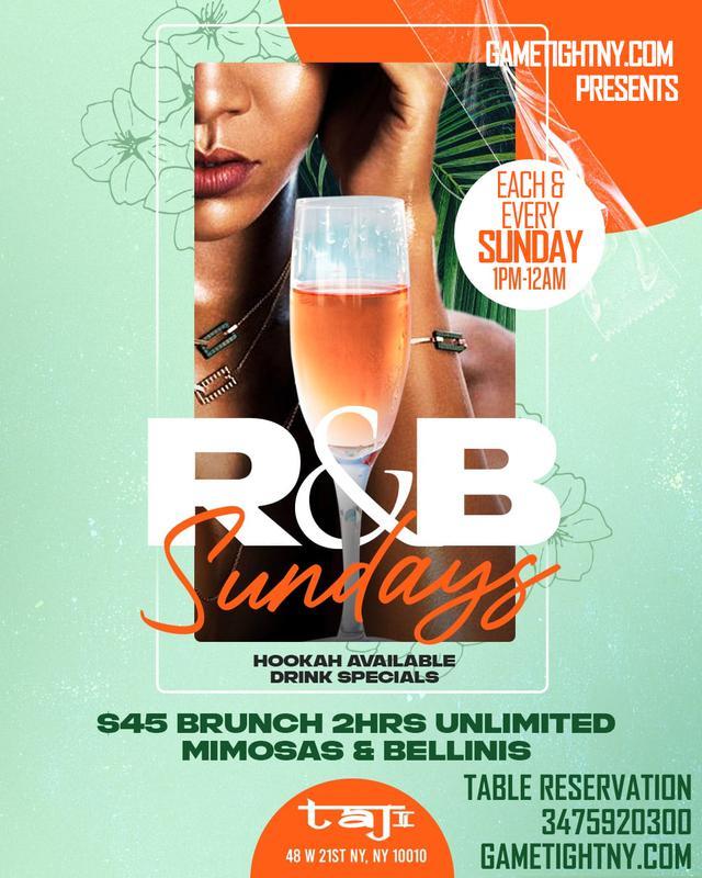 Taj Lounge NYC Sundays