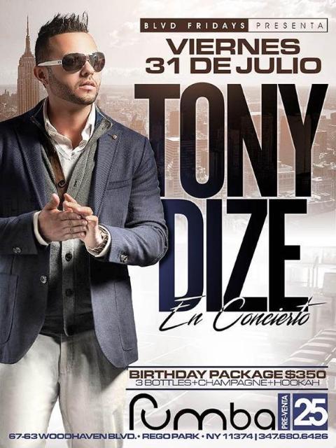 Tony Dize Live At Rumba