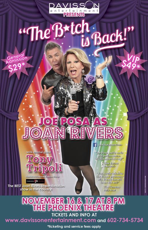 """The B!tch is Back"" Joe Posa as Joan Rivers."