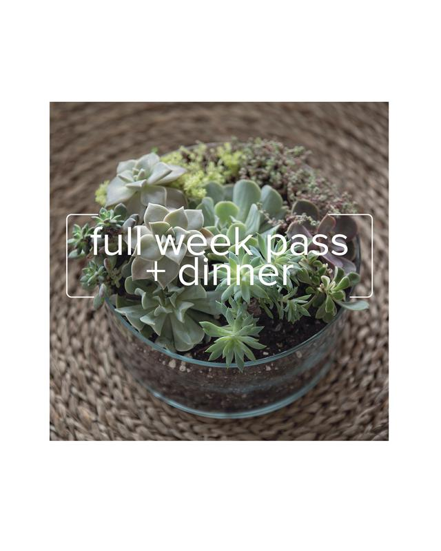 detroit flower week: WEEK PASS + DINNER TICKET