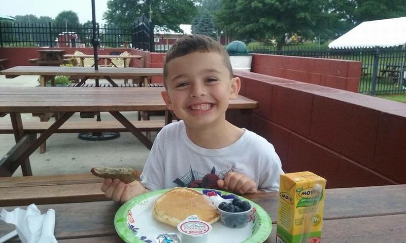 Milburn's Rockin' Raspberry Pancake Breakfast
