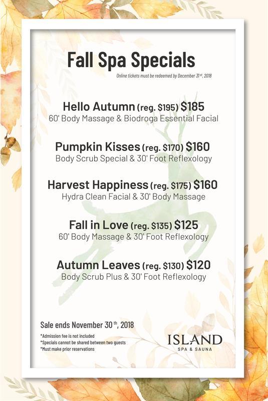 Fall Spa Specials