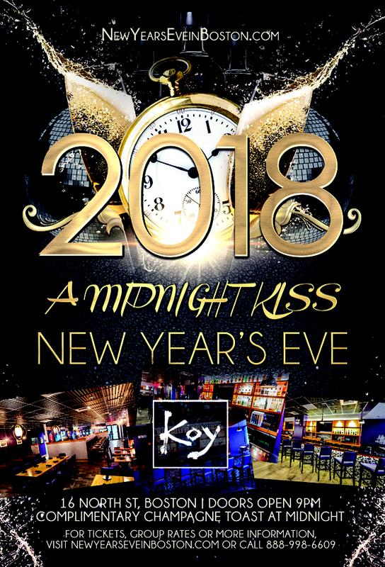 """3rd Annual """"A Midnight Kiss"""" New Year's Eve at Koy"""