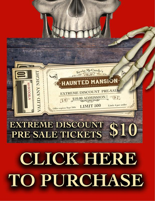 Kevin McCurdy's Haunted Mansion presale tickets