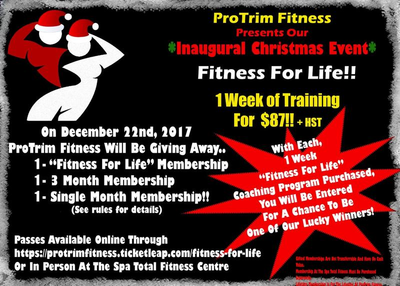 ProTrim Fitness Presents - Fitness For Life!!