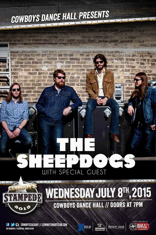 THE SHEEPDOGS: Live at Cowboys Dance Hall - Stampede 2015