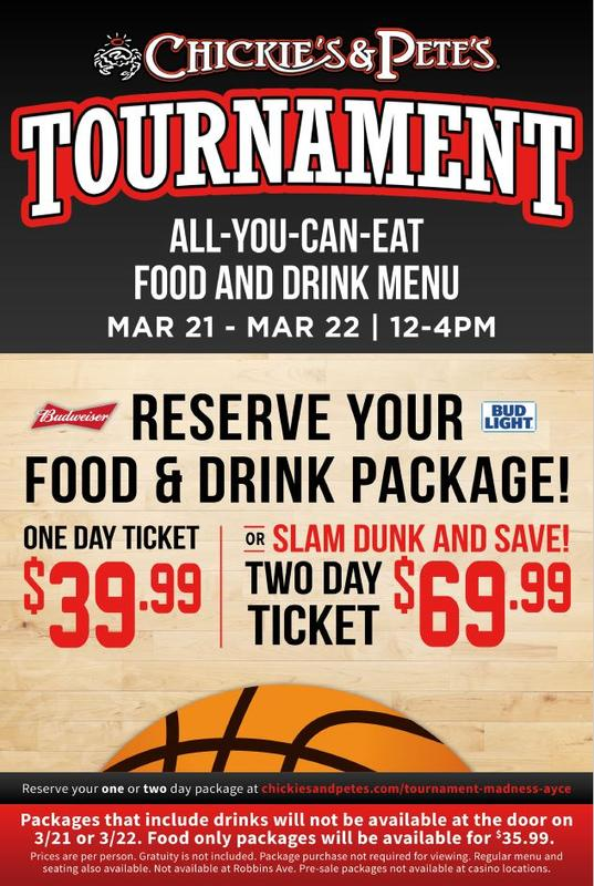 March Madness AYCE Package: Bordentown, NJ