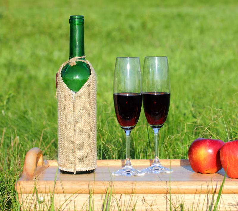 Wine and Apples in the Orchard