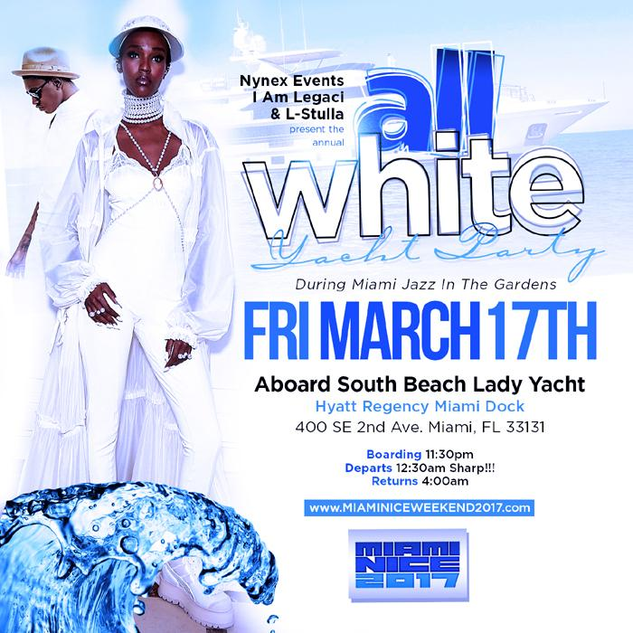 Miami Nice 2017 Annual All White Yacht Party Jazz In The