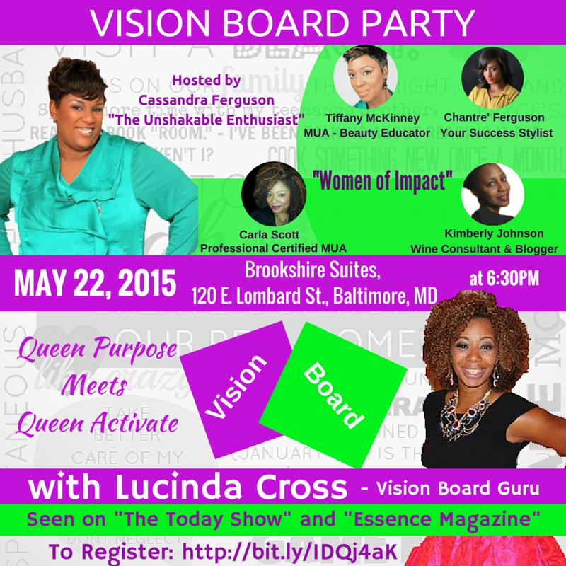 Vision Board Party With Lucinda Cross Tickets In Baltimore