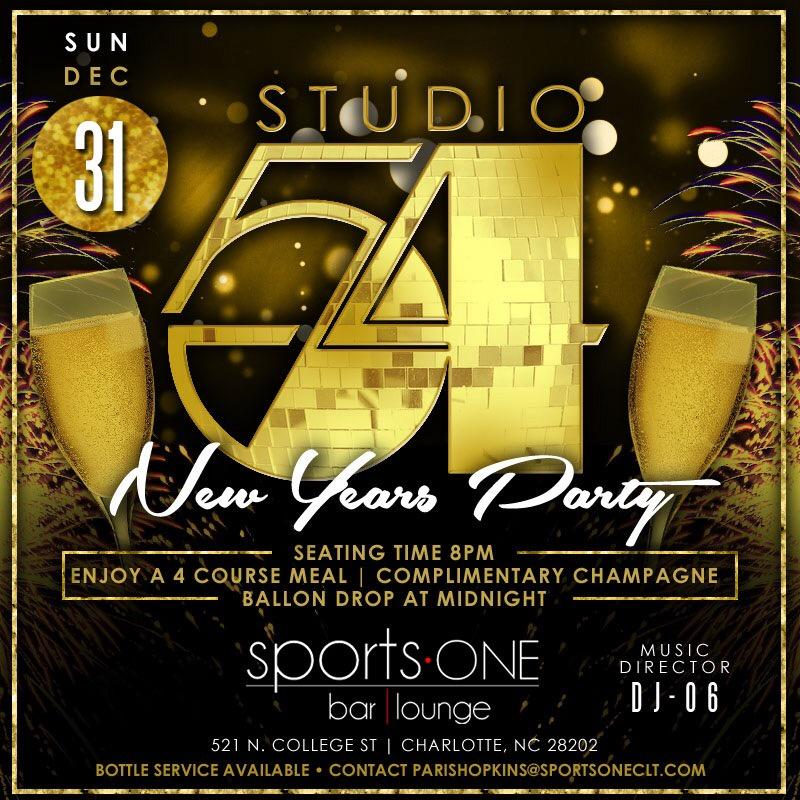 STUDIO 54 AT SPORTS ONE NEW YEARS EVE