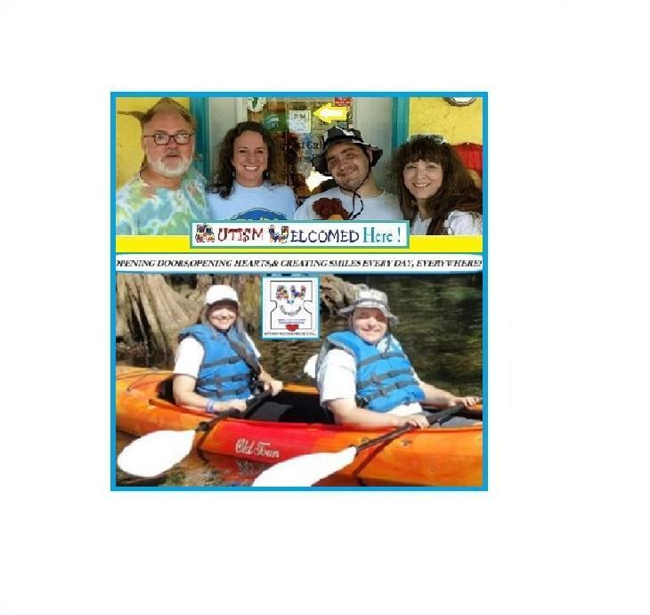 """Autism Welcomed Decal's """"April's Autism Awareness Kayak, Picnic, & Swim!"""""""