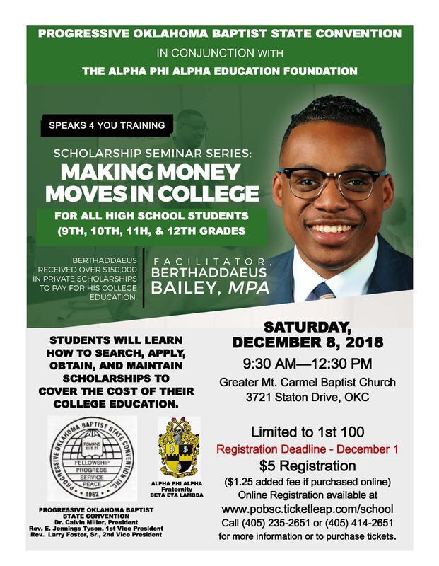 Youth Scholarship Seminar