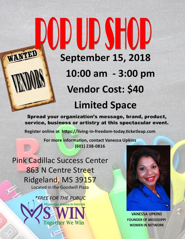 Mississippi Women in Network Pop Up Shop - September 2018