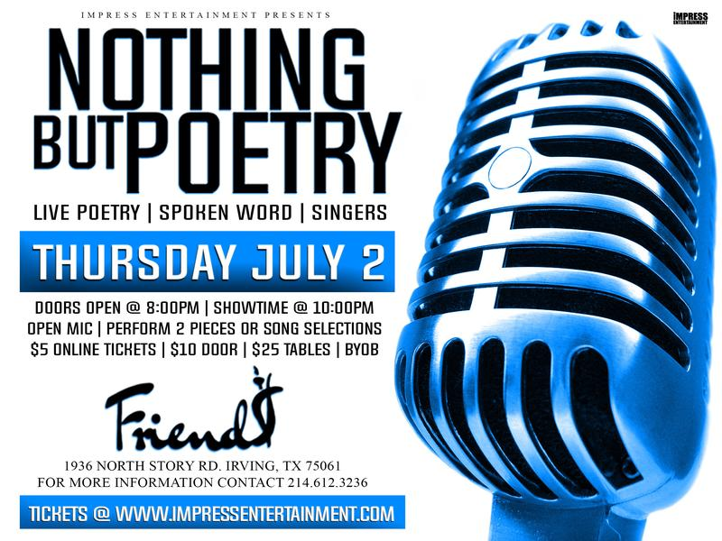 NOTHING BUT POETRY LIVE @ FRIENDS HOOKAH LOUNGE