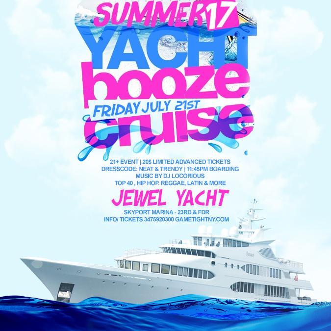 NYC Booze Cruise Party at Skyport Marina Jewel Yacht