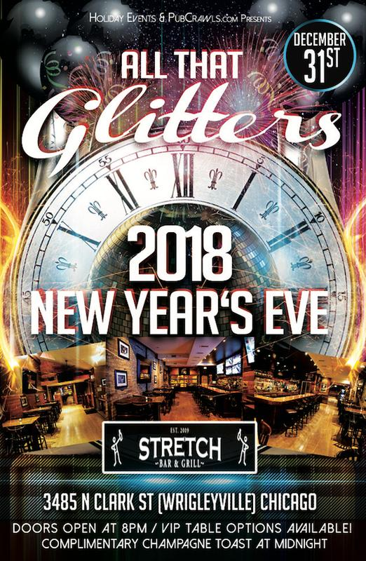 """All That Glitters"" New Year's Eve at The Stretch [Wrigleyville]"